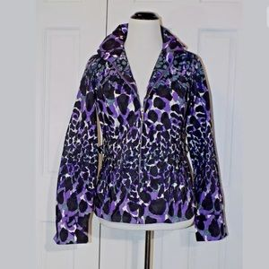 CHICO'S ZENERGY Sz O - S Windbreaker Jacket Purple